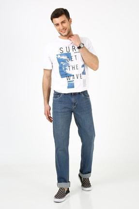 Erkek Soluk Mavi Kot Pantolon MZ50440
