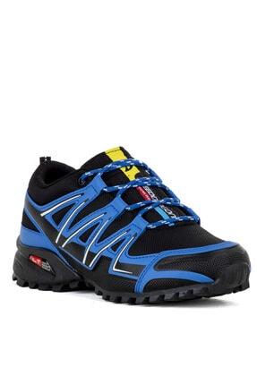 Ayakkabix Erkek Çocuk Siyah Mavi Ferrani Günlük Spor Ayakkabı 1