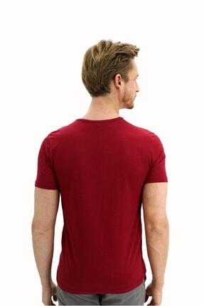 Kiğılı V Yaka Slim Fit Tişört 2