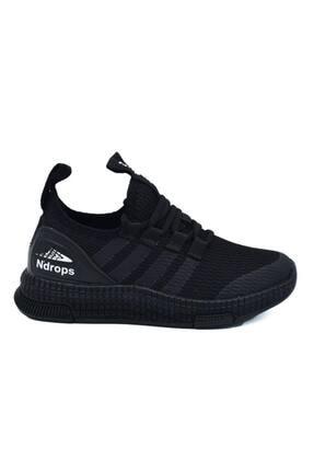 N Drops Unisex Çocuk Siyah Spor Ayakkabı 0