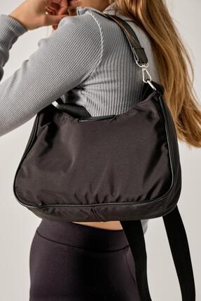 Shule Bags Kadın Siyah Katrine Paraşüt Kumaş Kol Çantası 4