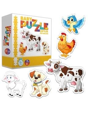 Circle Toys Baby Puzzle Çiftlik Hayvanları - Bebeğimin Ilk Puzzle Seti 0