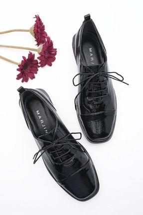 Marjin Kadın Oxford Ayakkabı Ateksiyah Rugan 0