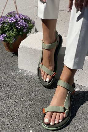İnan Ayakkabı Kadın Yeşil Sandalet 1