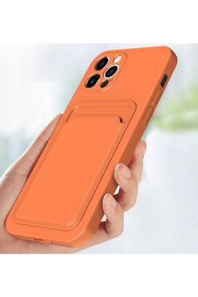 Fibaks Apple Iphone 12 Pro Max Kılıf Lansman Dokulu Kamera Korumalı Kartlıklı Kart Bölmeli Yumuşak Silikon 2