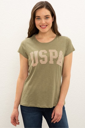 US Polo Assn Yesıl Kadın T-Shirt 0