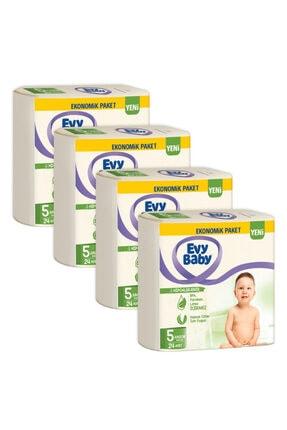 Evy Baby Bebek Bezi 5 Beden Junior 96 Adet Ve 4 Paket Islak Hvl 1