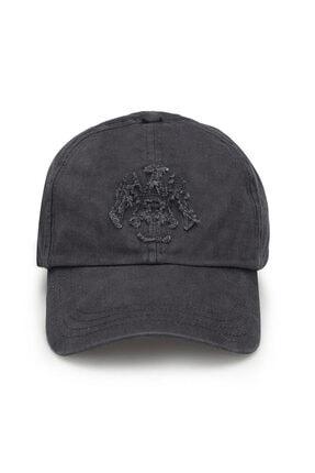 Mavi Mühür Logo Gri Şapka 1