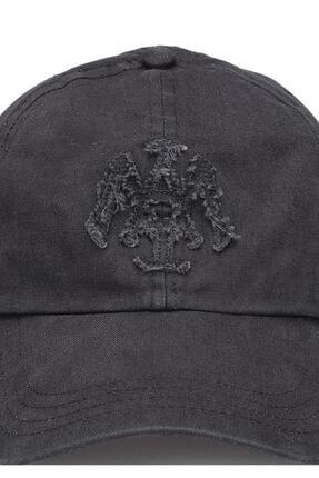 Mavi Mühür Logo Gri Şapka 3