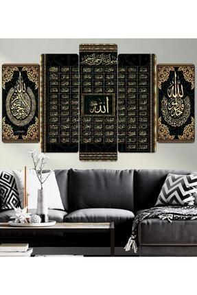 hanhomeart Esma-ül Hüsna Allah 99 Ismi-parçalı Ahşap Duvar Tablo Seti 0