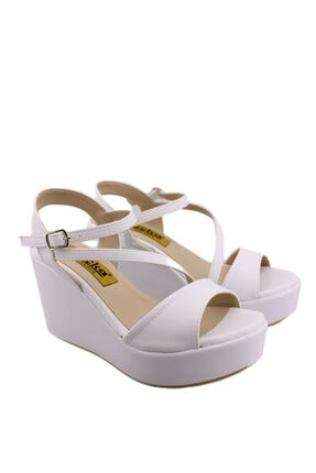 Kadın Dolgu Topuk Yazlık Sandalet Ayakkabı JV138