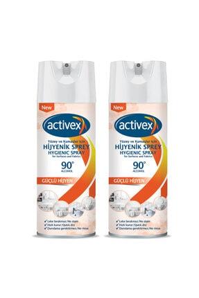 Activex Hijyenik Kumaş ve Yüzey Spreyi 400 ml X 2 Adet + 50ml Duru Kolonya Hediyeli 2