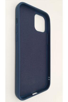 Pirok Store Iphone 12 Promax 6.7 Lacivert Lansman Içi Kadife Logolu Silikon Kılıf 2