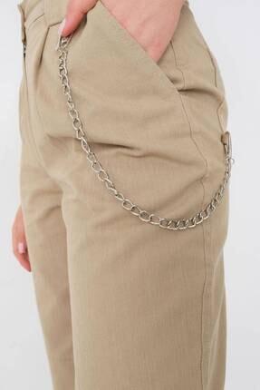 Addax Kadın Vizon Zincir Detaylı Pantolon Pn01-0073 - S11 2