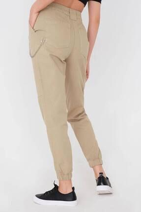 Addax Kadın Vizon Zincir Detaylı Pantolon Pn01-0073 - S11 4