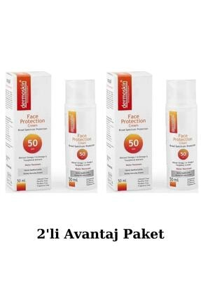 Dermoskin Face Protection Spf 50 Plus 50 Ml Güneş Kremi 2'li Avantaj Paket 0