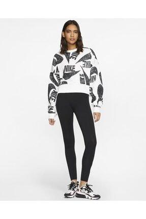 Nike Sportswear Yüksek Belli Siyah Tayt 4