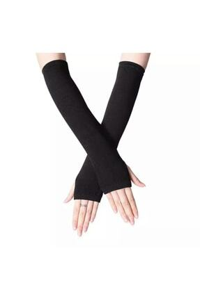 تصویر از Anime Grunge Punk Siyah Uzun Parmaksız Eldiven