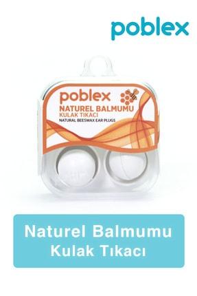 Poblex Naturel Balmumu Kulak Tıkacı - Kulak Koruyucu Tıpası 2'li 0