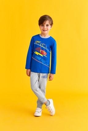 Cars Lisanslı Erkek Çocuk Pijama Takımı Saks 0