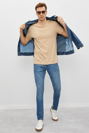 Koton Erkek Mavi Jean Pantolon 0