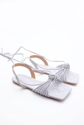 Marjin Kadın Beyaz İpli Sandalet 2