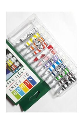 Südor Yağlı Boya 12 Renk X 8.5 ml. Tüp 0