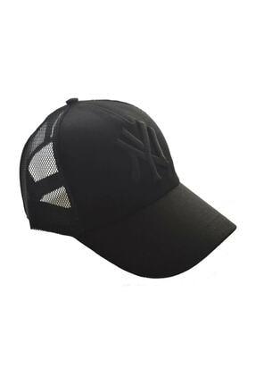 Orçun Özkarlıklı Unisex Fileli Siyah Kep Şapka Siyah Logo 0
