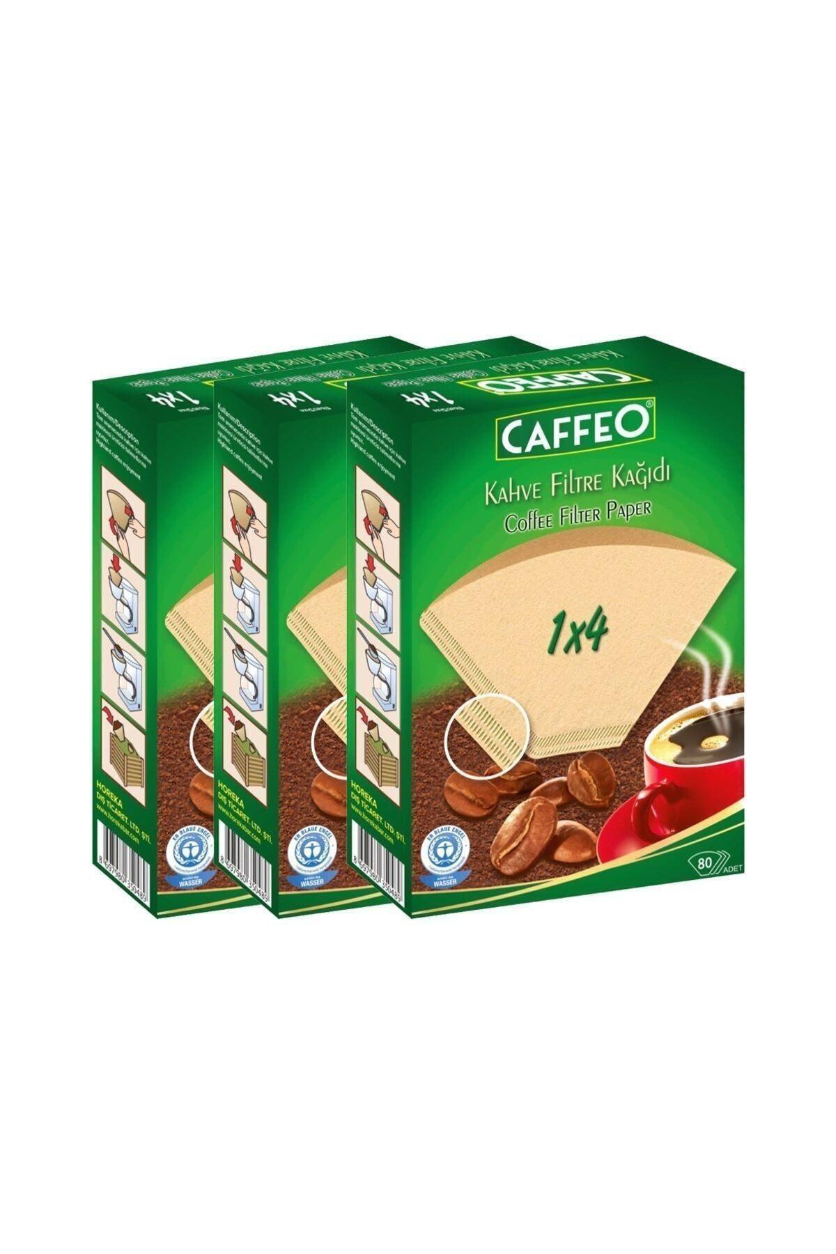 Kahve Filtre Kağıdı 1x4 80 Adet 3 Lü Set 240 Adet