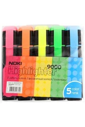 Noki Fosforlu Kalem 5 Renk Set 1