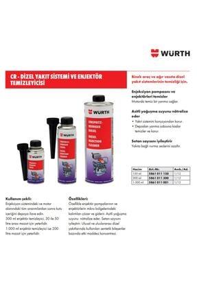 Würth Enjektör Temizleyici Dizel Performans Iyileştirici 1
