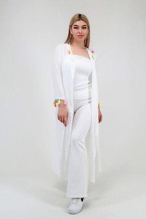 Kadın Kapüşonlu Vual Kimono resmi
