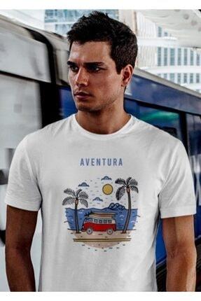 Aventura Clothing Co %100 Pamuk, Regular Fit, Bisiklet Yaka, Baskılı Tshirt - Good Vibes Only 3 0