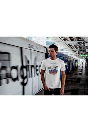 Aventura Clothing Co %100 Pamuk, Regular Fit, Bisiklet Yaka, Baskılı Tshirt - Good Vibes Only 3 1