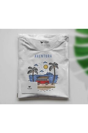 Aventura Clothing Co %100 Pamuk, Regular Fit, Bisiklet Yaka, Baskılı Tshirt - Good Vibes Only 3 4
