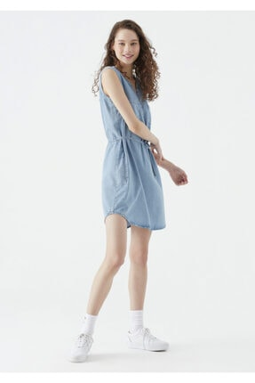 Mavi Suzy Lux Touch Lyocell Denim Elbise 1