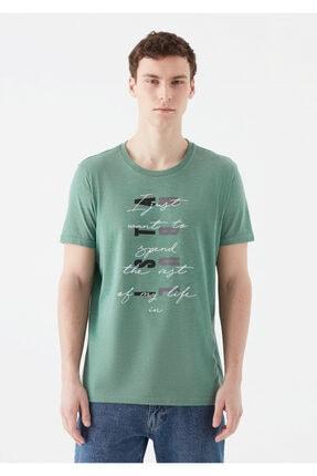 Mavi Rest Of My Life Baskılı Yeşil Istanbul Tişört 2