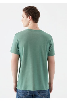 Mavi Rest Of My Life Baskılı Yeşil Istanbul Tişört 3