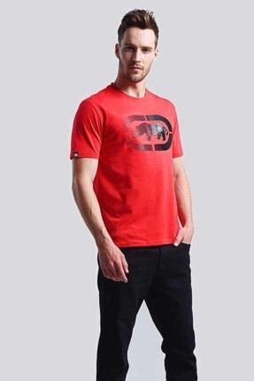 Ecko Unltd Logo Tee 2 Kırmızı Erkek Baskılı Bisiklet Yaka T-shirt 2