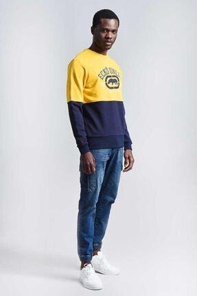 Ecko Unltd Logo Sweat 2 Sarı Erkek Baskılı Bisiklet Yaka Sweatshirt 3