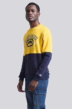 Ecko Unltd Logo Sweat 2 Sarı Erkek Baskılı Bisiklet Yaka Sweatshirt 4