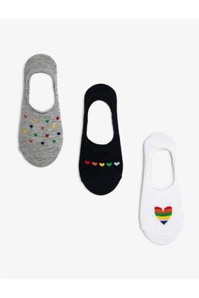 Koton Kadin Beyaz Siyah Gri Çorap Seti 0