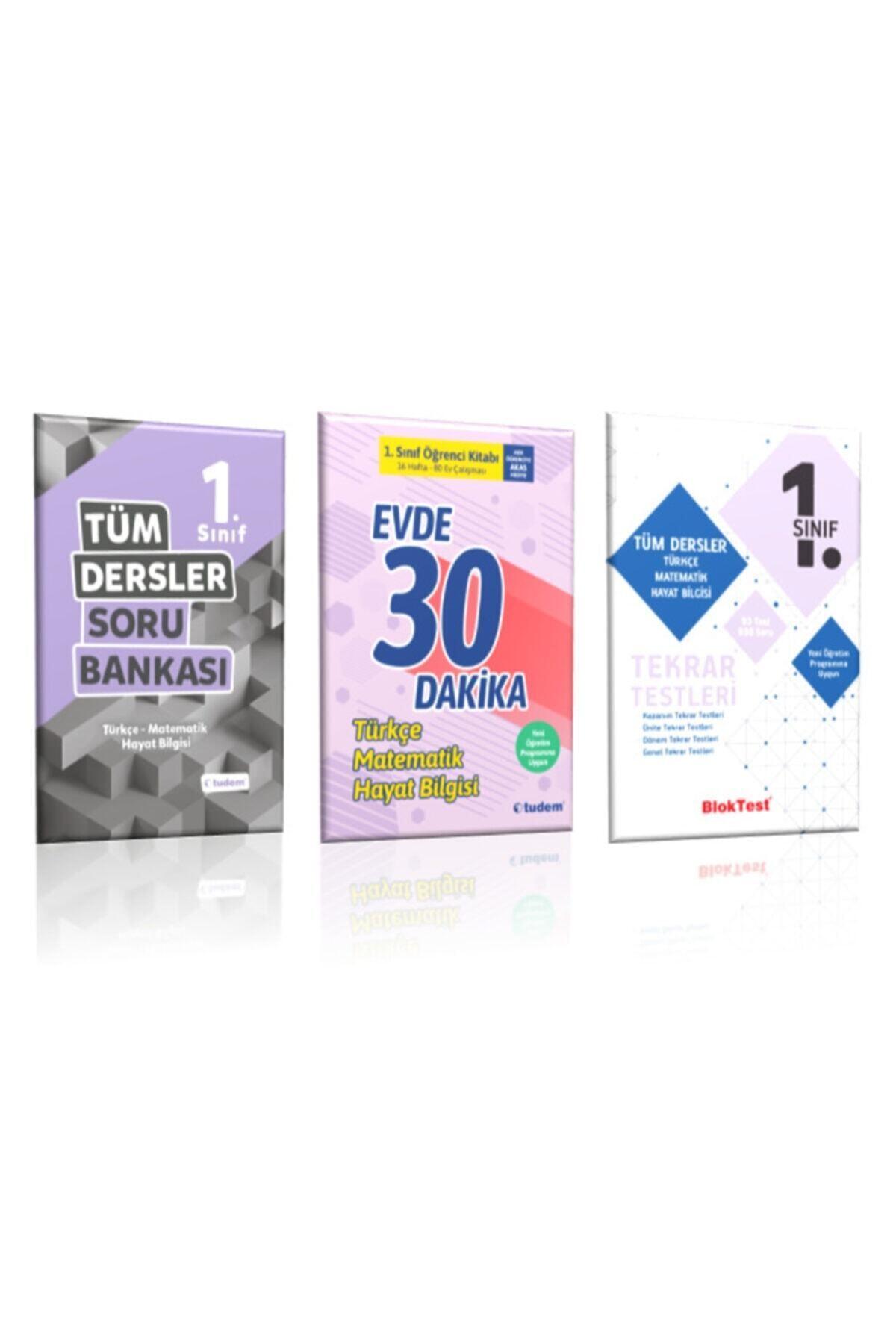 1 Sınıf Tüm Dersler ( Tüm Dersler Soru Bankası , Evde 30 Dk. Ve Tekrar Testleri) 3 Kitap Takım
