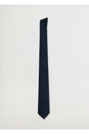Mango Erkek Lacivert Geometrik Baskılı Kravat 1