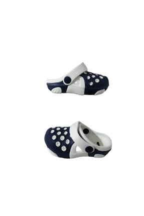Picture of Ak1987-010 Unisex Bebek Lacivert Beyaz Çift Taban Günlük Yürüyüş Sandalet Terlik