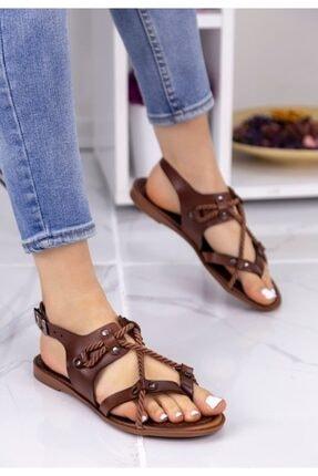 Erbilden Kadın Taba Halatlı Sandalet 1