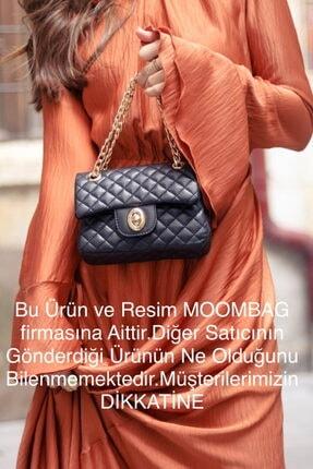Moom Bag Kadın Siyah Zincirli Kapitone Çanta 2