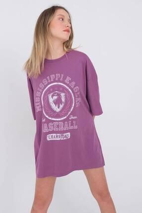 Picture of Baskılı Oversize T-shirt P9585