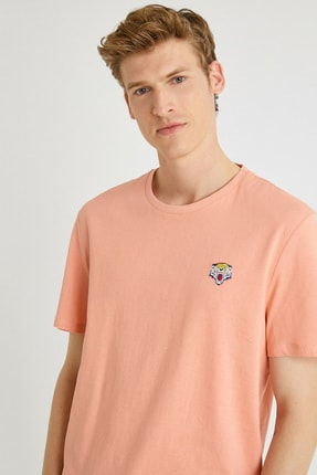 Koton Erkek Mercan T-Shirt 1YAM11591HK 1