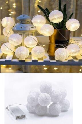 Patladı Gitti Led Işıklı Koton Top Dizeleri 10 lu 1,5 metre - Beyaz 1